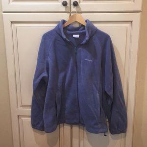 Columbia fleece sweatshirt jacket womens 3x blue